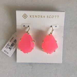 Kendra Scott hot pink dangle earrings
